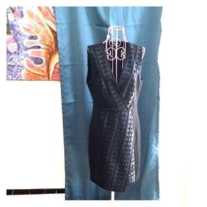 Black low v sleevless cocktail dress